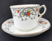 Gladstone China coffee cup & saucer DECO